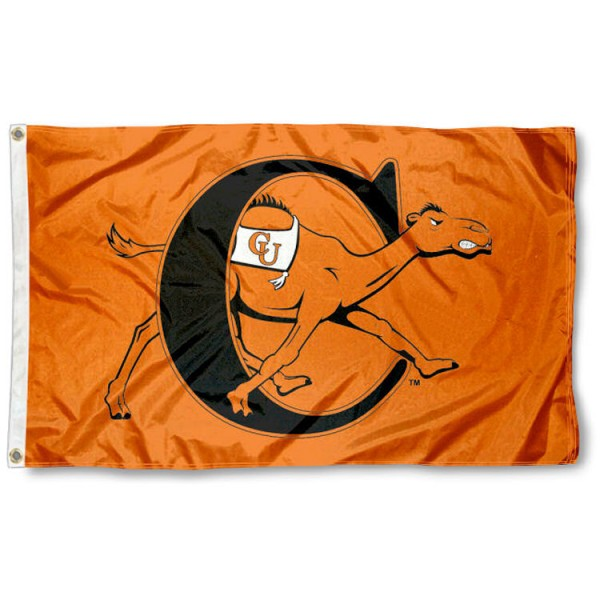 Campbell Fighting Camels Flag is made of 100% nylon, offers quad stitched flyends, measures 3x5 feet, has two metal grommets, and is viewable from both side with the opposite side being a reverse image. Our Campbell Fighting Camels Flag is officially licensed by the selected college and NCAA