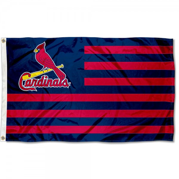 Cardinals Nation Flag measures 3x5 feet, is made of polyester, offers quad-stitched flyends, has two metal grommets, and is viewable from both sides with a reverse image on the opposite side. Our Cardinals Nation Flag is Genuine MLB Merchandise.