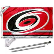 Carolina Hurricanes Flag Pole and Bracket Kit