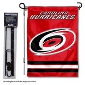 Carolina Hurricanes Garden Flag and Flagpole Stand