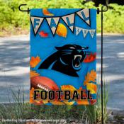 Carolina Panthers Fall Football Leaves Decorative Double Sided Garden Flag