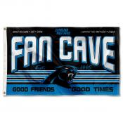 Carolina Panthers Fan Cave Flag Large Banner