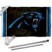 Carolina Panthers Flag Pole and Bracket Kit