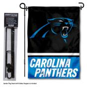 Carolina Panthers Garden Flag and Stand