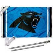 Carolina Panthers Panther Blue Flag Pole and Bracket Kit