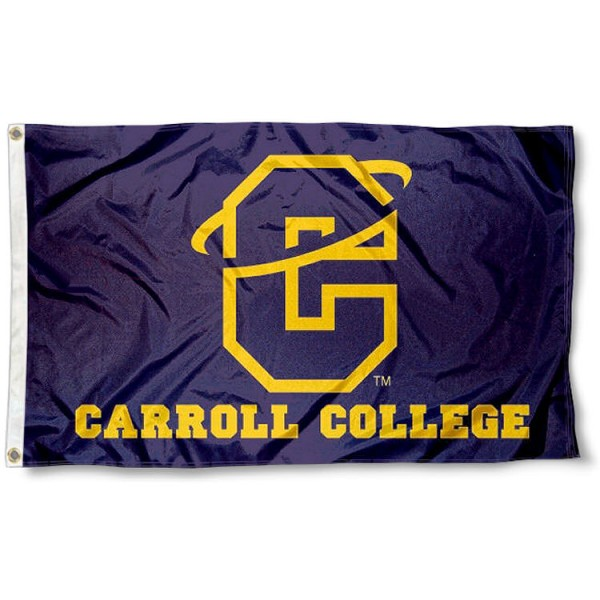 Carroll College Fighting Saints Flag measures 3'x5', is made of 100% poly, has quadruple stitched sewing, two metal grommets, and has double sided Carroll College logos. Our Carroll College Logo Outdoor Flag is officially licensed by the selected university and the NCAA.