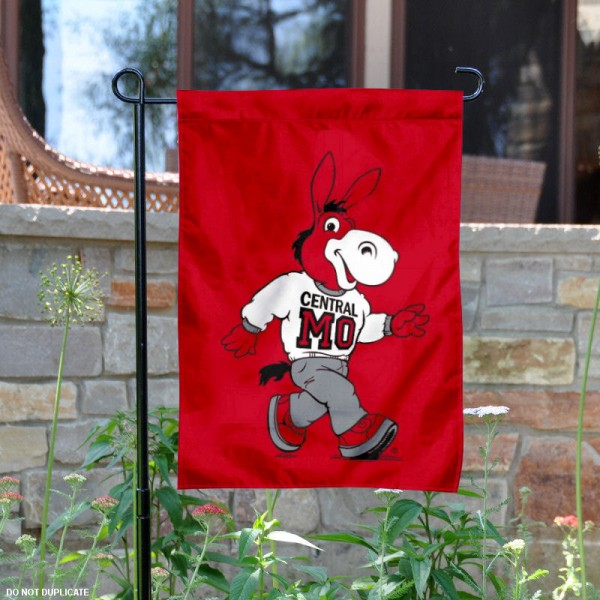 Cental Missouri UCM Mules Garden Flag is 13x18 inches in size, is made of 2-layer polyester, screen printed University of Central Missouri athletic logos and lettering. Available with Same Day Express Shipping, Our Cental Missouri UCM Mules Garden Flag is officially licensed and approved by University of Central Missouri and the NCAA.