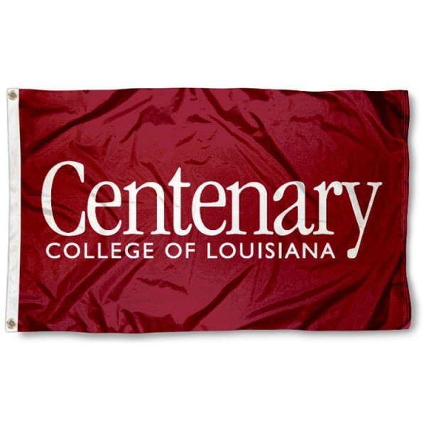 This Centenary Flag measures 3'x5', is made of 100% nylon, has quad-stitched sewn flyends, and has two-sided Centenary printed logos. Our Centenary Flag is officially licensed and all flags for Centenary are approved by the NCAA and Same Day UPS Express Shipping is available.