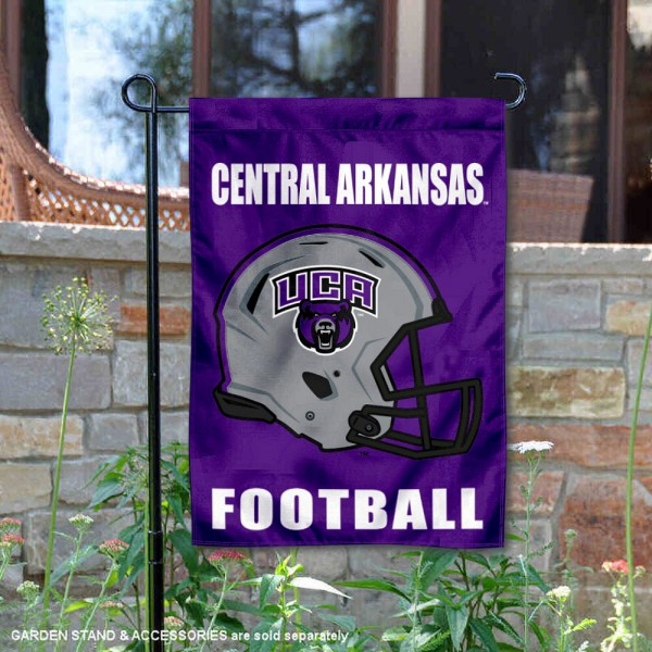 Central Arkansas Bears Helmet Yard Garden Flag is 13x18 inches in size, is made of 2-layer polyester with Liner, screen printed university athletic logos and lettering, and is readable and viewable correctly on both sides. Available same day shipping, our Central Arkansas Bears Helmet Yard Garden Flag is officially licensed and approved by the university and the NCAA.