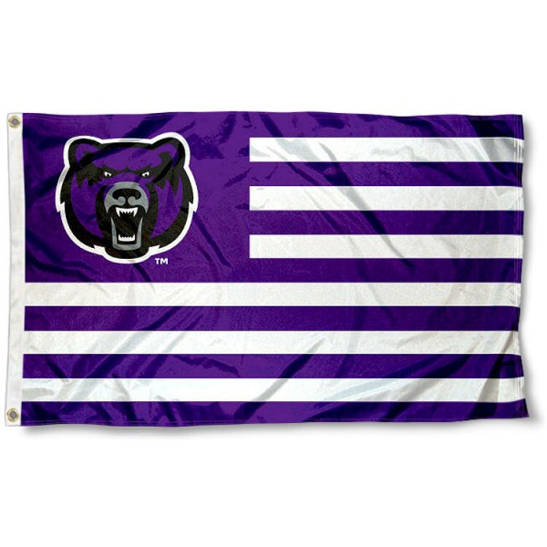 Central Arkansas Bears Striped Flag measures 3'x5', is made of polyester, offers double stitched flyends for durability, has two metal grommets, and is viewable from both sides with a reverse image on the opposite side. Our Central Arkansas Bears Striped Flag is officially licensed by the selected school university and the NCAA.