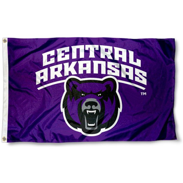 Central Arkansas Bears Wordmark Flag measures 3x5 feet, is made of 100% polyester, offers quadruple stitched flyends, has two metal grommets, and offers screen printed NCAA team logos and insignias. Our Central Arkansas Bears Wordmark Flag is officially licensed by the selected university and NCAA.