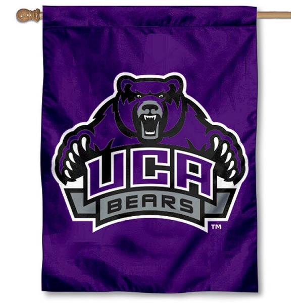 Central Arkansas University House Flag is a vertical house flag which measures 30x40 inches, is made of 2 ply 100% polyester, offers dye sublimated NCAA team insignias, and has a top pole sleeve to hang vertically. Our Central Arkansas University House Flag is officially licensed by the selected university and the NCAA