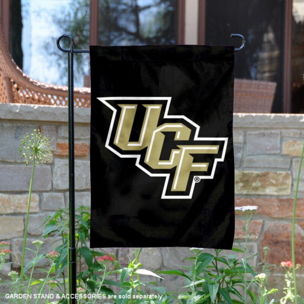 Central Florida Knights Black Garden Flag is 13x18 inches in size, is made of 2-layer polyester, screen printed university athletic logos and lettering, and is readable and viewable correctly on both sides. Available same day shipping, our Central Florida Knights Black Garden Flag is officially licensed and approved by the university and the NCAA.