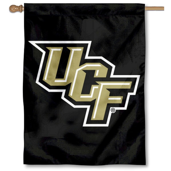 Central Florida Knights Double Sided House Flag is a vertical house flag which measures 30x40 inches, is made of 2 ply 100% polyester, offers screen printed NCAA team insignias, and has a top pole sleeve to hang vertically. Our Central Florida Knights Double Sided House Flag is officially licensed by the selected university and the NCAA.