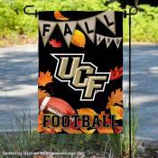 Central Florida Knights Fall Football Autumn Leaves Decorative Garden Flag