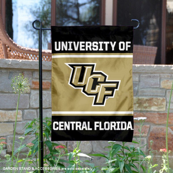 Central Florida Knights Garden Flag is 13x18 inches in size, is made of 2-layer polyester, screen printed logos and lettering. Available with Same Day Express Shipping, Our Central Florida Knights Garden Flag is officially licensed and approved by the NCAA.