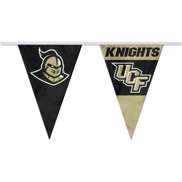 Central Florida Knights Pennant String Flags are 35 feet in total length, are made of polyester, includes 12x8 inch streamers, and are screen printed. Each is Offically Licensed.