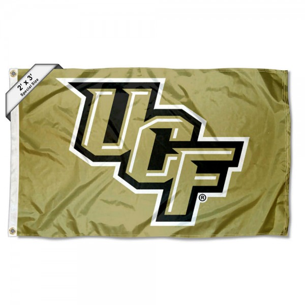 Central Florida Knights Small 2'x3' Flag measures 2x3 feet, is made of 100% polyester, offers quadruple stitched flyends, has two brass grommets, and offers printed Central Florida Knights logos, letters, and insignias. Our 2x3 foot flag is Officially Licensed by the selected university.