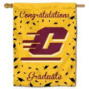 Central Michigan Chippewas Congratulations Graduate Flag