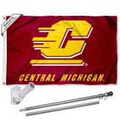 Central Michigan Chippewas Flag Pole and Bracket Kit