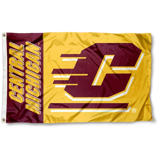 Central Michigan Logo Outdoor Flag measures 3'x5', is made of 100% poly, has quadruple stitched sewing, two metal grommets, and has double sided CMU logos. Our Central Michigan Logo Outdoor Flag is officially licensed by the selected university and the NCAA.