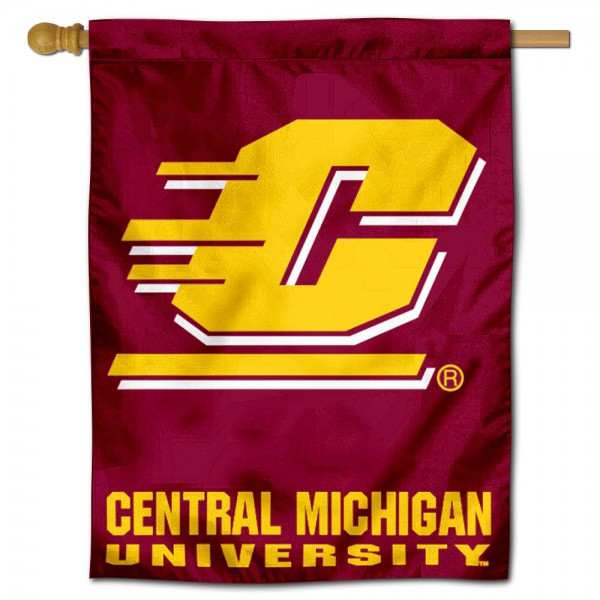 Central Michigan University Chippewas House Flag