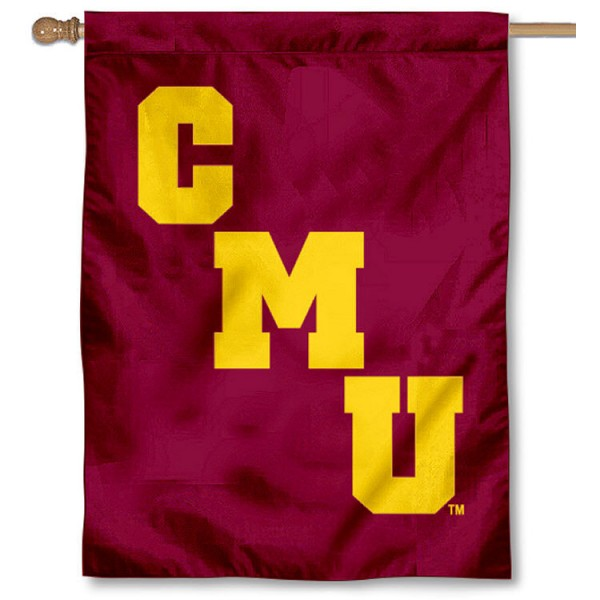 Central Michigan University CMU Logo House Flag is a vertical house flag which measures 30x40 inches, is made of 2 ply 100% polyester, offers dye sublimated NCAA team insignias, and has a top pole sleeve to hang vertically. Our Central Michigan University CMU Logo House Flag is officially licensed by the selected university and the NCAA.