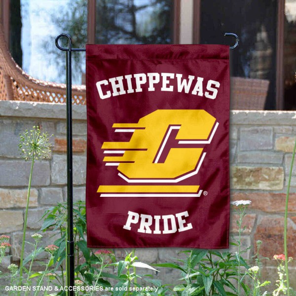 Central Michigan University Country Garden Flag is 13x18 inches in size, is made of 2-layer polyester, screen printed university athletic logos and lettering, and is readable and viewable correctly on both sides. Available same day shipping, our Central Michigan University Country Garden Flag is officially licensed and approved by the university and the NCAA.