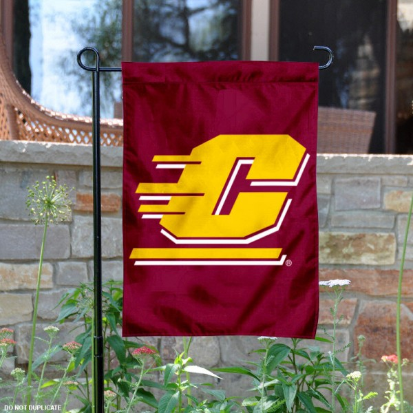 Central Michigan University Garden Flag is 13x18 inches in size, is made of 2-layer polyester, screen printed Central Michigan University athletic logos and lettering. Available with Same Day Express Shipping, Our Central Michigan University Garden Flag is officially licensed and approved by Central Michigan University and the NCAA.
