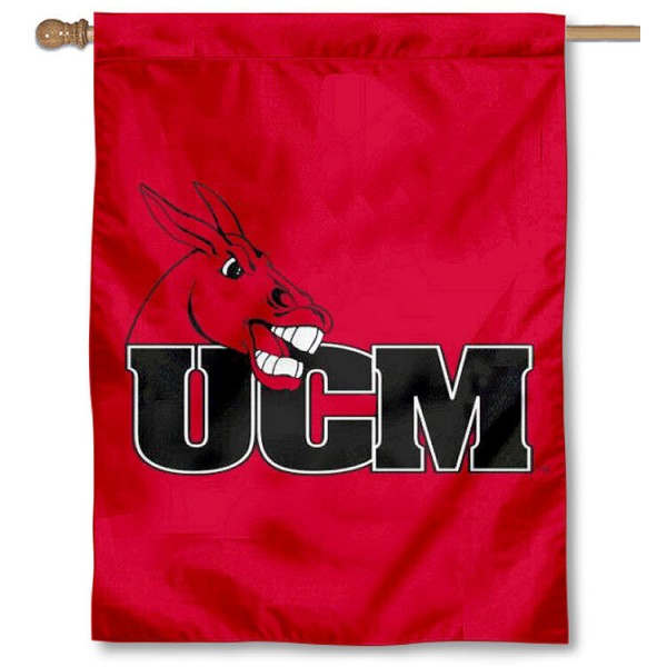 Central Missouri UCM Mules Banner Flag is a vertical house flag which measures 30x40 inches, is made of 2 ply 100% polyester, offers dye sublimated NCAA team insignias, and has a top pole sleeve to hang vertically. Our Central Missouri UCM Mules Banner Flag is officially licensed by the selected university and the NCAA.