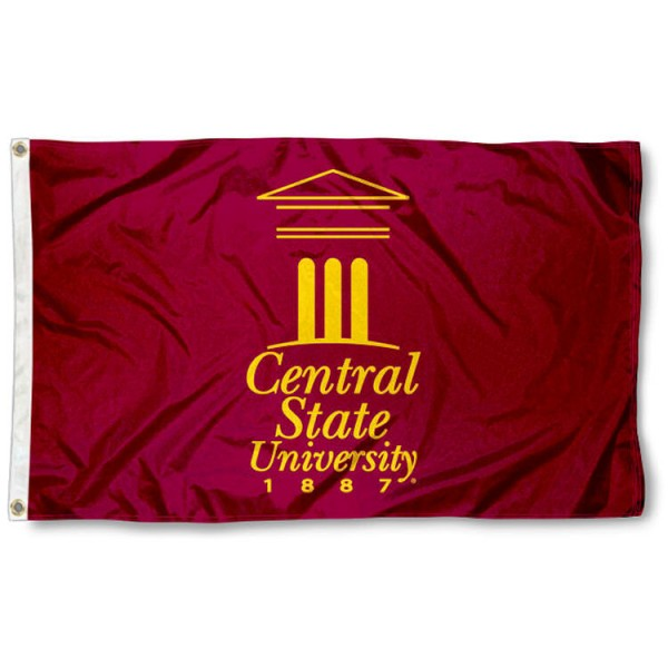 Central State Marauders Flag is made of 100% nylon, offers quad stitched flyends, measures 3x5 feet, has two metal grommets, and is viewable from both side with the opposite side being a reverse image. Our Central State Marauders Flag is officially licensed by the selected college and NCAA