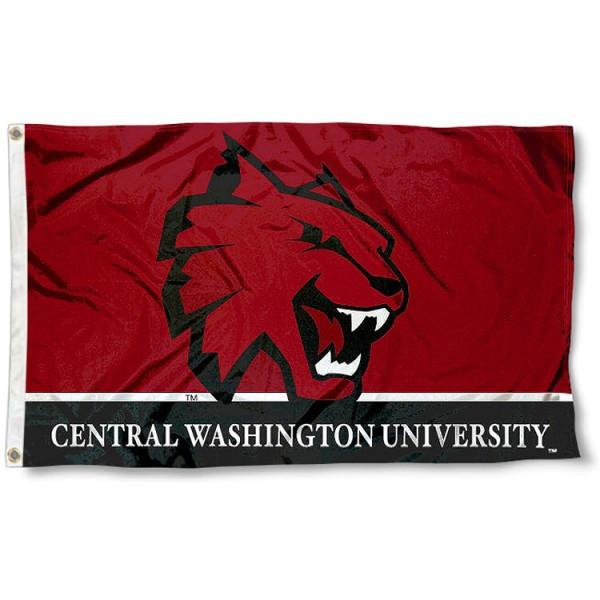 Central Washington Wildcats 3x5 Flag