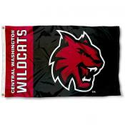 Central Washington Wildcats Black Flag