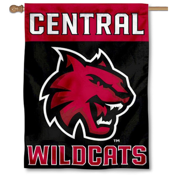 Central Washington Wildcats Double Sided House Flag is a vertical house flag which measures 30x40 inches, is made of 2 ply 100% polyester, offers screen printed NCAA team insignias, and has a top pole sleeve to hang vertically. Our Central Washington Wildcats Double Sided House Flag is officially licensed by the selected university and the NCAA.