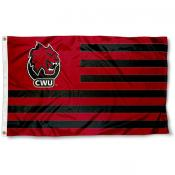 Central Washington Wildcats Stripes Flag