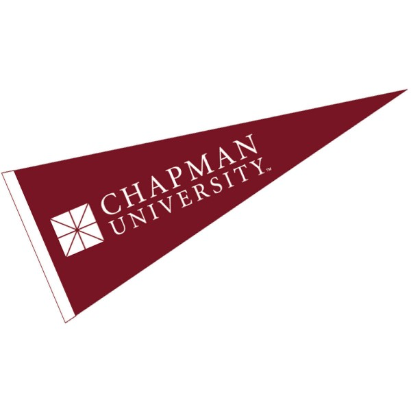 Chapman Panthers Pennant measures 12x30 inches, is made of wool, and the School logos are printed with raised lettering. Our Chapman Panthers Pennant is Officially Licensed and Approved by the University or Institution.