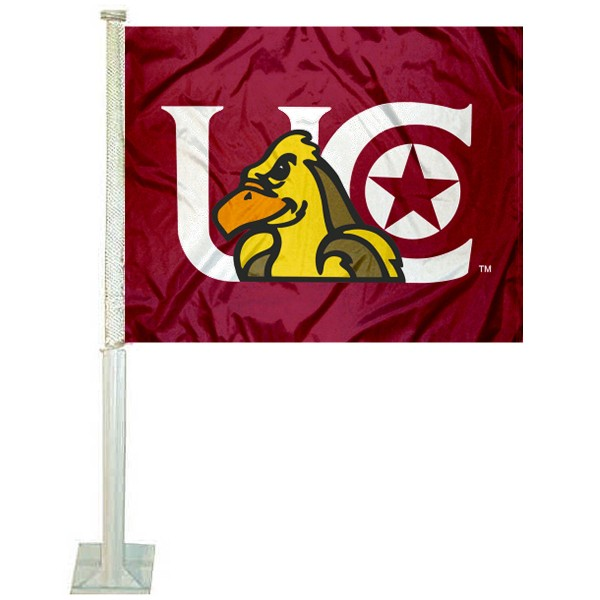 Charleston Golden Eagles Logo Car Flag measures 12x15 inches, is constructed of sturdy 2 ply polyester, and has screen printed school logos which are readable and viewable correctly on both sides. Charleston Golden Eagles Logo Car Flag is officially licensed by the NCAA and selected university.