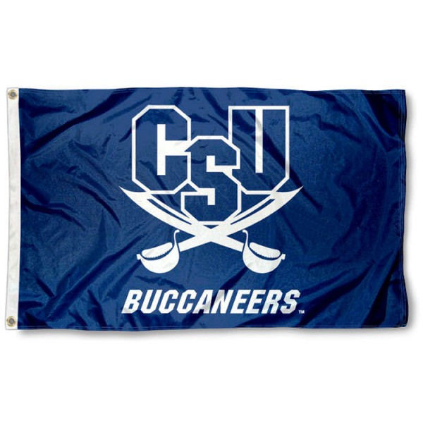 Charleston Southern Buccaneers Flag is made of 100% nylon, offers quad stitched flyends, measures 3x5 feet, has two metal grommets, and is viewable from both side with the opposite side being a reverse image. Our Charleston Southern Buccaneers Flag is officially licensed by the selected college and NCAA