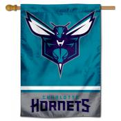 Charlotte Hornets Logo Double Sided House Flag
