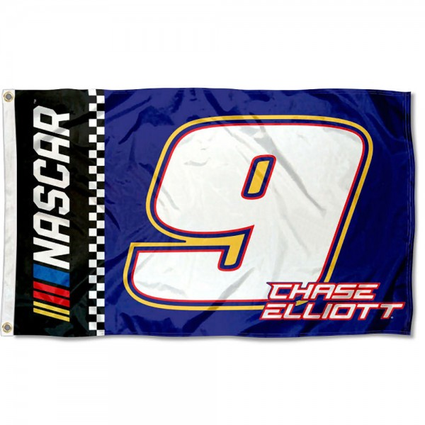 Chase Elliot 3x5 Large Banner Flag is screen printed, made of one-ply polyester, quad stitched flyends, and measures 3x5 feet. Our Chase Elliot 3x5 Large Banner Flag is approved by NASCAR.