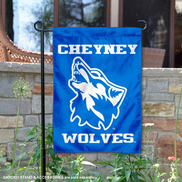 Cheyney University Wolves Garden Flag is 13x18 inches in size, is made of 2-layer polyester, screen printed university athletic logos and lettering, and is readable and viewable correctly on both sides. Available same day shipping, our Cheyney University Wolves Garden Flag is officially licensed and approved by the university and the NCAA.