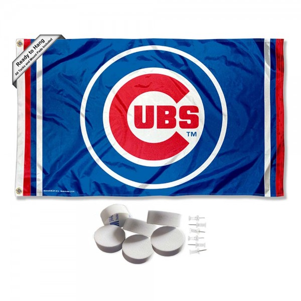 Our Chicago Baseball Banner Flag with Tack Wall Pads is double sided, made of poly, 3'x5', has two metal grommets, indoor or outdoor, and four-stitched fly ends. These Chicago Baseball Banner Flag with Tack Wall Padss are Officially Approved by the Boston Bruins. Tapestry Wall Hanging Tack Pads which include a 6 pack of banner display pads with 6 tacks allowing you to hang your pennant on any wall damage-free.