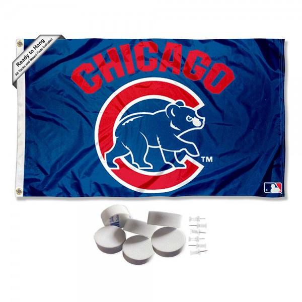 Our Chicago Baseball Walking Bear Logo Banner Flag with Tack Wall Pads is double sided, made of poly, 3'x5', has two metal grommets, indoor or outdoor, and four-stitched fly ends. These Chicago Baseball Walking Bear Logo Banner Flag with Tack Wall Padss are Officially Approved by the Boston Bruins. Tapestry Wall Hanging Tack Pads which include a 6 pack of banner display pads with 6 tacks allowing you to hang your pennant on any wall damage-free.