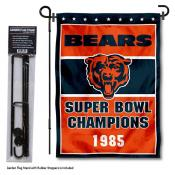 Chicago Bears 1985 Champions Garden Banner and Flag Stand