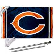 Chicago Bears C Logo Flag Pole and Bracket Kit