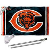 Chicago Bears Double Logo Flag Pole and Bracket Kit