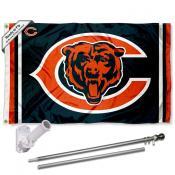 Chicago Bears Double Logo Flag Pole and Bracket Kit