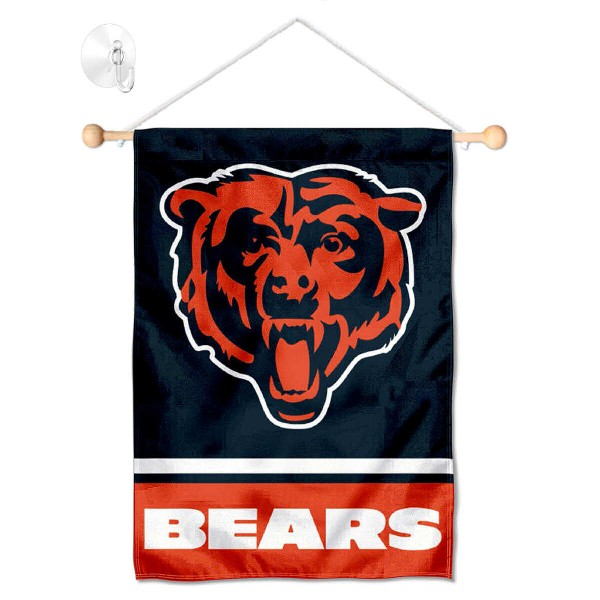 Chicago Bears Head Logo Window and Wall Banner