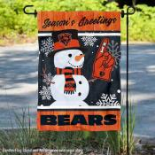 Chicago Bears Holiday Winter Snow Double Sided Garden Flag