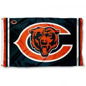Chicago Bears Logos Flag